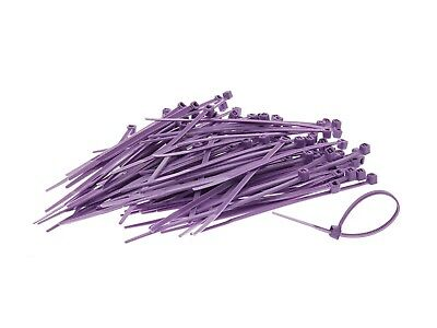PURPLE STRONG QUALITY NYLON CABLE TIES ZIP WRAPS  - Small/Large Short/Long UK