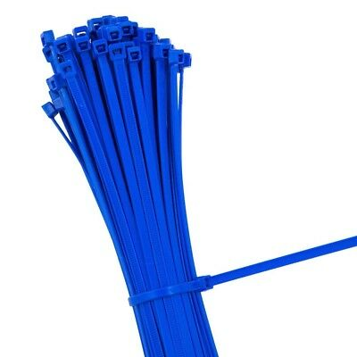 BLUE STRONG QUALITY NYLON CABLE TIES ZIP WRAPS - Small/Large Short/Long UK