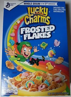 New 2018 Lucky Charms Frosted Flakes Cereal 13.8 Oz Free Worldwide Shipping