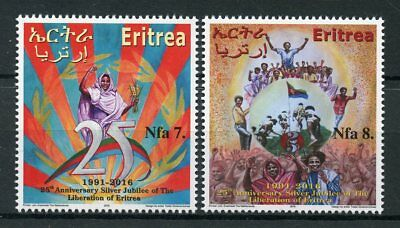 Eritrea 2015 MNH Liberation of Eritrea Silver Jubilee 2v Set Military War Stamps