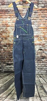 VTG NOS NWT Key Imperial Overalls 26 x 32 Blue Made In USA Bibs Cotton Denim