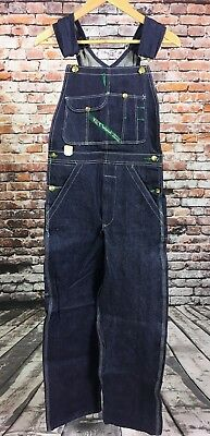 VTG NOS NWT Key Imperial Overalls 28 x 30 Blue Made In USA Bibs Cotton Denim