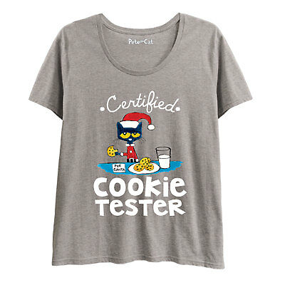 11f175a0f8568 Pete the Cat Certified Cookie Tester -LADIES PLUS SIZE SCOOP NECK TEE-3XL