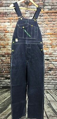 VTG NOS NWT Key Imperial Overalls 30 x 32 Blue Made In USA Bibs Cotton Denim