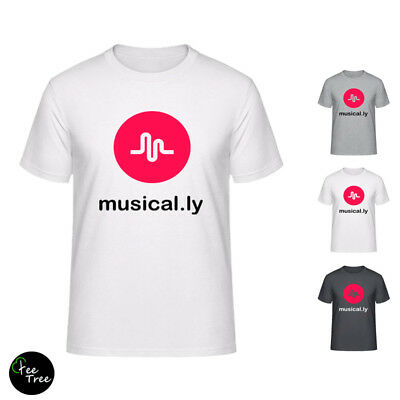 Musical.ly famous App logo Tops T-Shirts (XS to XXL sizes) for girls musically