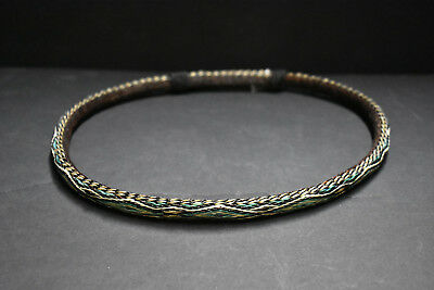 Native American Indian Sioux Hitched Horsehair Hatband