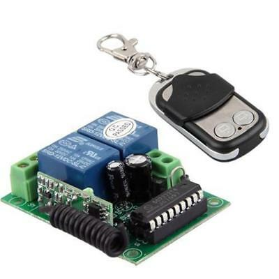 DC 12V 10A Relay 2CH wireless RF Remote Control Switch Transmitter+Receiver QT