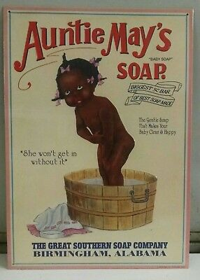 Auntie May's SOAP Great Southern Soap Company Birmingham AL Vintage metal Sign