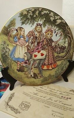 Limoges France Alice In Wonderland ALICE & THE CROQUET GAME Collector Plate MIB