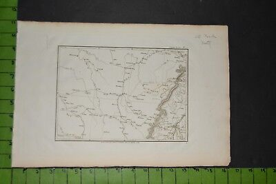 Antique Map of Strasbourg France 1800 11x16 Inches