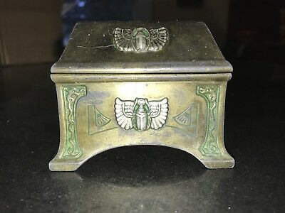 benedict karnak brass egyptian revival art deco jewelry box