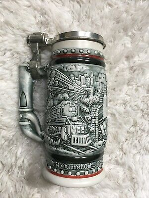 1982 Orient Express Age of the Iron Horse Trains Railroad Beer Stein Avon