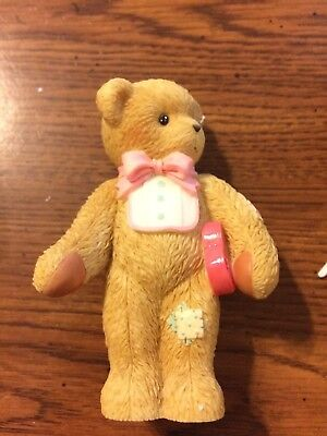 "Cherished Teddies Enesco ""i Give You My Heart"" Bow Tie/heart"