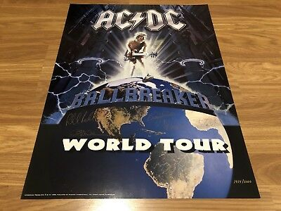 ACDC Ballbreaker Licensed Plate Signed Limited Edition Lithograph 1974/5000