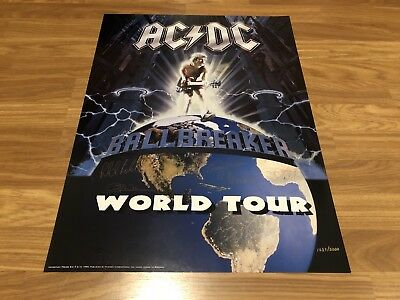 ACDC Ballbreaker Licensed Plate Signed Limited Edition Lithograph 1637/5000
