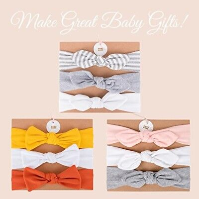 Bow Headbands Any Occasions Hair Accessories Head Wrap Stylish Cotton 3 Pack