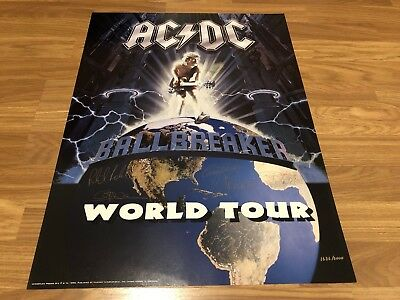 ACDC Ballbreaker Licensed Plate Signed Limited Edition Lithograph 1636/5000