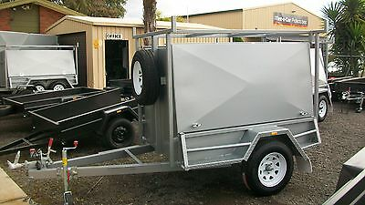 7x4 All In One Tradesman Trailer with Rear Door 1250Kg GVM