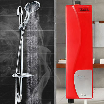 3000W Mini Tankless Electric Hot Shower Instant Water Heater Kitchen Bathroom