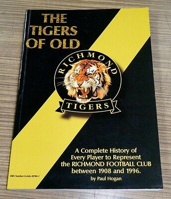The Tigers Of Old Richmond Tigers Complete History Every Player 1908-1996