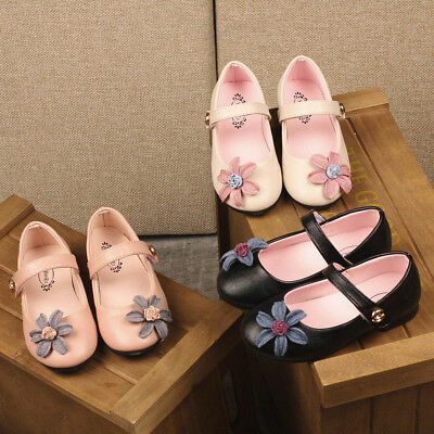 Toddler Children Kid Girls Solid Floral Deor Sandals Princess Casual Shoes Yibei