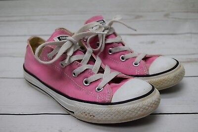db458cd61f17 Girls Converse Shoes Pink All Star Chuck Taylor Sneakers Size 2 EUC