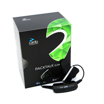 Cardo Packtalk Slim Bluetooth Motorcycle Communication System - Free Shipping