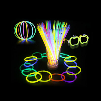 2550100 pcs 8 glow sticks bracelets necklace party favors neon color