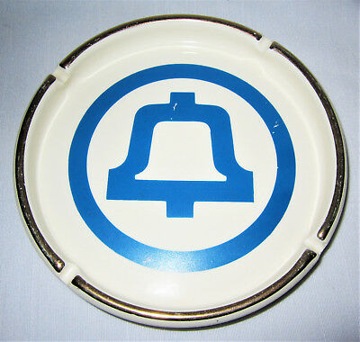 "Vintage Bell System Telephone Company Advertising Ceramic Ashtray 6-3/4"" Wide"