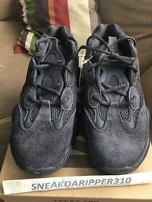 Adidas Yeezy 500 Triple Black Utility Size 12 100% Authentic Confirmed Order