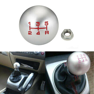 Manual Gear Shift Knob Shifter MT Handle Type Aluminum 5 Speed Silvery Fit Honda