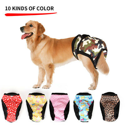 Adjustable Dog Sanitary Nappy Diaper Physiological Pants Underwear For Pet S-XL