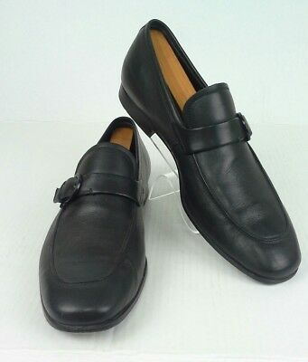 ad9cb195168f Salvatore Ferragamo Men s Loafers Shoes  LC44901 Black Leather Size 9 ...