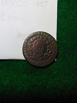 Mexico, Potosi 1867 Copper Quarter Real (Quartillo)