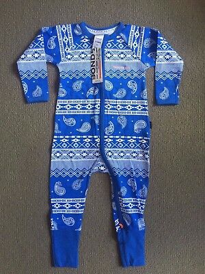 Bonds Paisley Park Blue Zippy Wondersuit Size 1