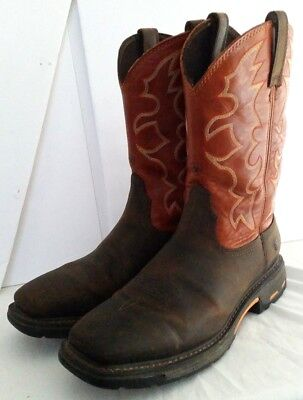 e10e3b13cc5 813TT Ariat Mens WorkHog 10005888 Square Soft Toe Western Work Boots 14 D