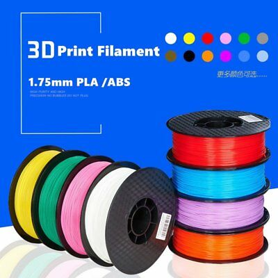 1.75mm ABS PLA Premium 3D Printer Filament 1KG/2.2LB FOR RepRap MarkerBot Lot HE