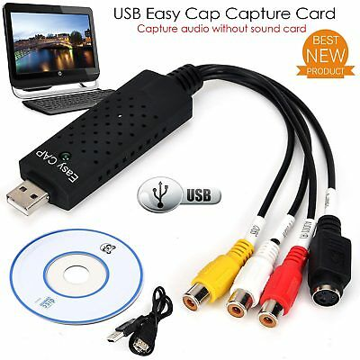 Easycap USB2.0 Audio Video VHS to TV Tuner DVD Converter Capture Card Adapter AU