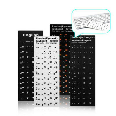 Waterproof RU Keyboard Stickers English French Letter Alphabet Layout Sticker