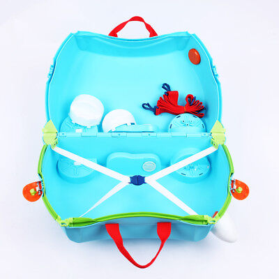 Holiday Travel Hand Luggage TRUNKI RIDE ON SUITCASE TOY BOX CHILDREN KIDS