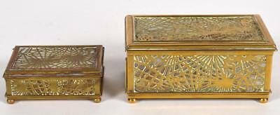 Two (2) Tiffany Studios 'Pine Needle' Boxes Lot 206