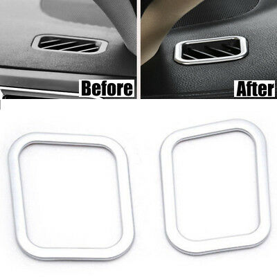 2x Front Dashboard Air Vent Cover Trim Bezel Fit For Toyota Highlander 2014-2018