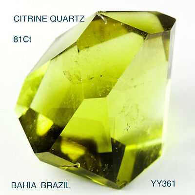CITRINE QUARTZ FROM BAHIA STUNNING LEMON COLOUR HUES LARGE 81.05 Ct  YY361