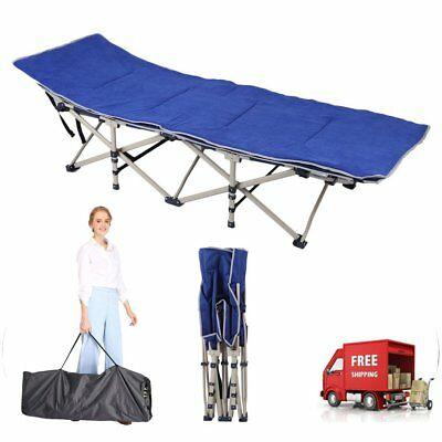 Strong Stable Folding Camping Cot Bed Portable Outdoor Hunting Hiking Bed WX