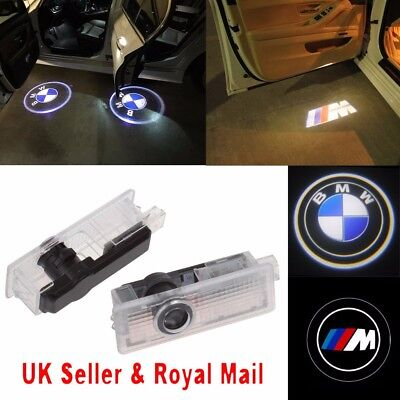 2/4 X BMW LED Courtesy Laser Welcome Projector Logo Shadow Car Door Lights Lamps