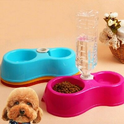 Useful Fashion Dog Pet Automatic Water Dispenser Food Food Dish Bowl Feeder