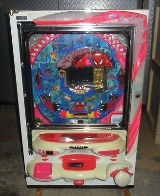 Classic Spiderman Video Pachinko Machine, Marvel / 200 Balls  Japanese Pinball