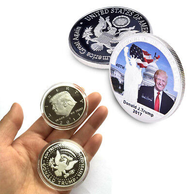 2017 President Donald Trump Inaugural Silver EAGLE Commemorative Novelty Coin CL