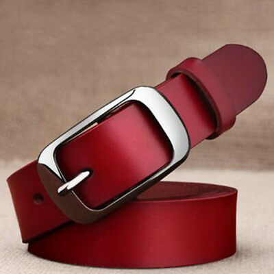 Pin Buckle Genuine Cow Leather All-match Leather Belt Waistband Belts Girdle