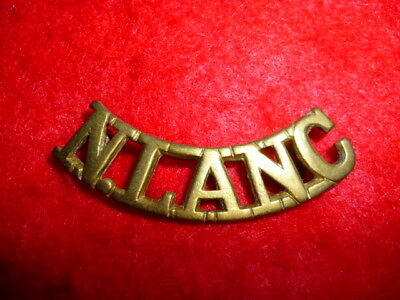 The North Lancashire Regiment Brass Shoulder Title, Boer War / WW1, No. 1217